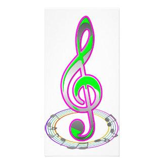 Nota da música cartão com foto