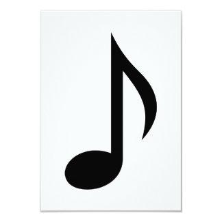 Nota da música convites personalizados