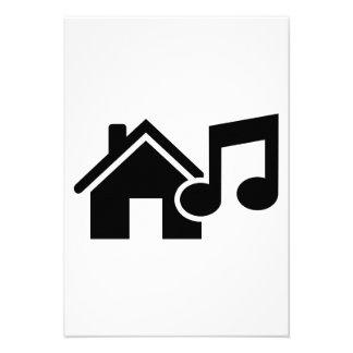 Nota da música da casa convite personalizado