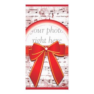 Nota da música do Natal com o cartão com fotos ver