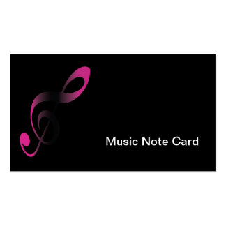 Nota da música no design preto cartão de visita