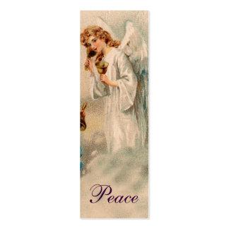Nota do amor da bênção do anjo ou marcador - roxo cartões de visitas