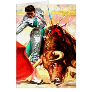 Nota do vazio da arte do poster vintage da luta de cartão comemorativo