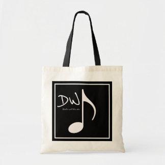 nota gráfica personalizada da música no preto bolsa tote