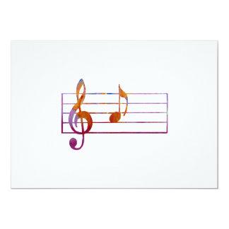 Nota musical A Convite 12.7 X 17.78cm