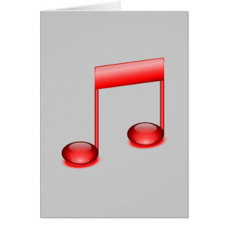 Nota musical cartao