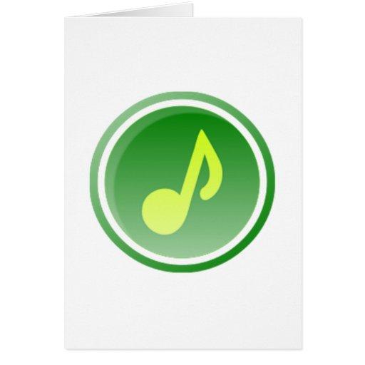 Nota musical cartão