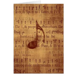 Nota musical cartões