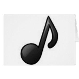 Nota musical cartão comemorativo