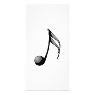 Nota musical cartão com foto