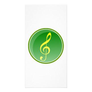 Nota musical cartão com fotos personalizado