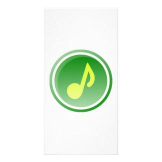 Nota musical cartao com foto personalizado