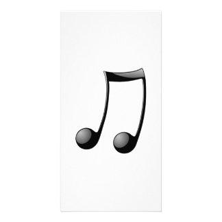 Nota musical cartao com fotos