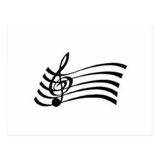 Nota musical cartao postal
