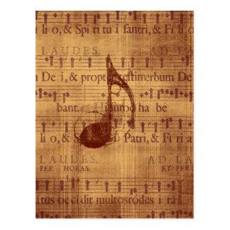 Nota musical cartoes postais