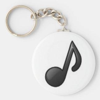Nota musical chaveiro