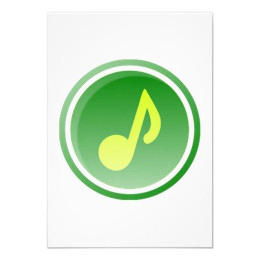 Nota musical convite personalizado