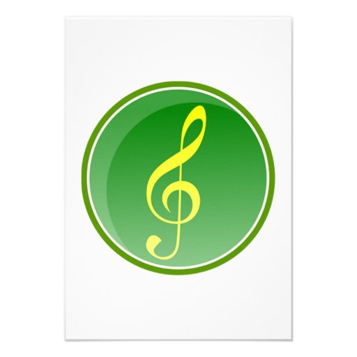 Nota musical convites personalizado