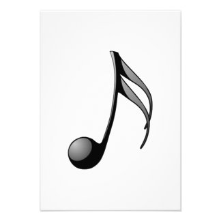 Nota musical convite personalizados
