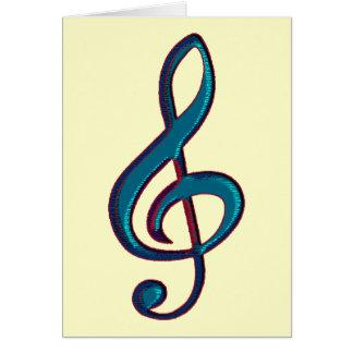 nota musical do clave cartão comemorativo