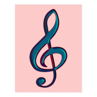 nota musical do clave cartão postal
