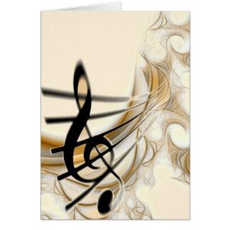 Nota musical elegante cartões