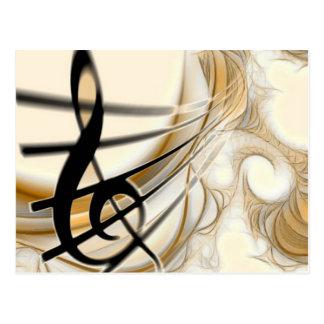 Nota musical elegante cartao postal