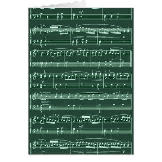 nota musical modelada cartao