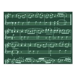 nota musical modelada cartoes postais