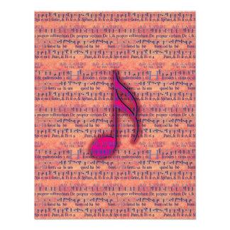 Nota musical na moda feminino na partitura convites personalizado