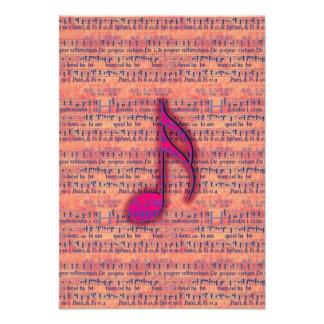 Nota musical na moda feminino na partitura convites