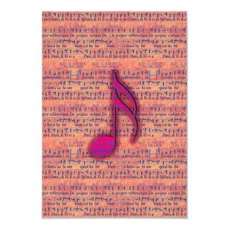 Nota musical na moda feminino na partitura