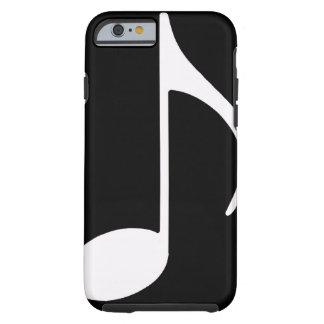 nota musical/preto capa tough para iPhone 6