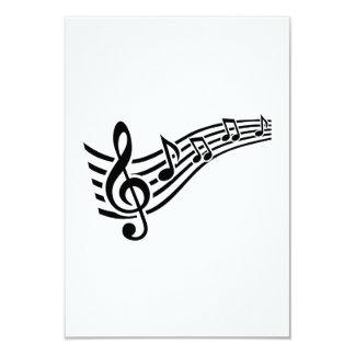 Nota o clef da música convites personalizado