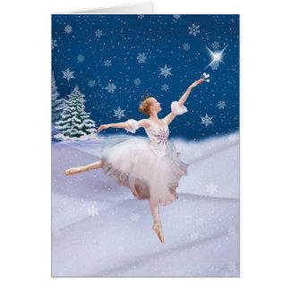 Nota ou cartão da bailarina da rainha da neve