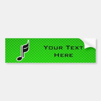 Nota verde da música adesivo