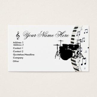 Notas ajustadas do teclado e da música de piano do cartão de visitas