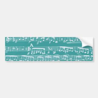 Notas azuis da música do Aqua Adesivo