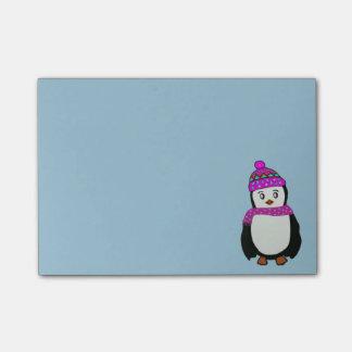 Notas bonitos do Cargo-it® do pinguim Sticky Note