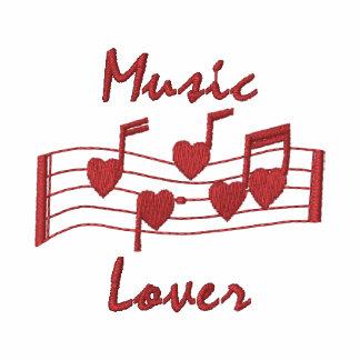 Notas bordadas customizáveis da música do coração