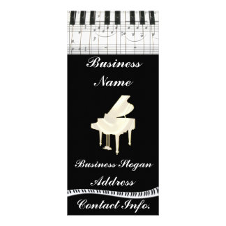 Notas brancas do teclado e da música de piano de c 10.16 x 22.86cm panfleto
