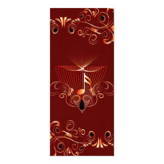 Notas chaves da música convite 10.16 x 23.49cm