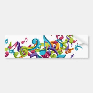 notas coloridas legal & sons da música adesivo para carro