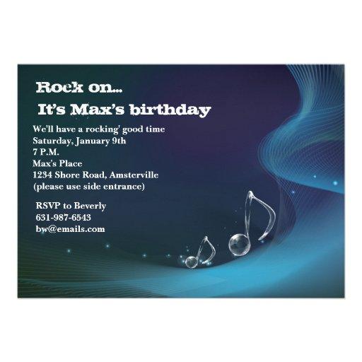 Notas congeladas - convite de aniversário