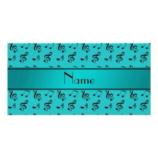 Notas conhecidas personalizadas da música de cartão com foto