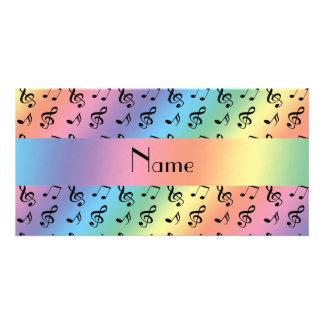 Notas conhecidas personalizadas da música do cartão com foto