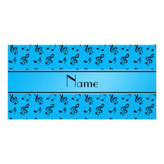 Notas conhecidas personalizadas da música dos cartão com foto
