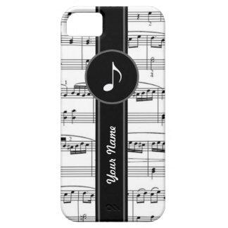 notas customizáveis da música do b&w capa para iPhone 5