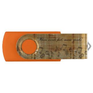 Notas da música 8 do giro de USB GB de Pen Drive Giratório