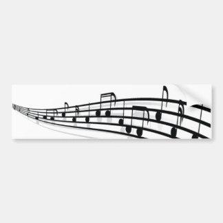 Notas da música adesivo